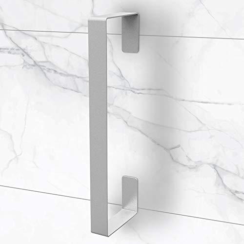 tradeNX Toallero vertical de acero inoxidable – Pegar – Ideal para el baño o la cocina – 40 x 9 x 3,5 cm