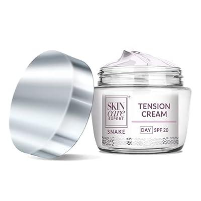 FLOSLEK Tension Day Face Cream 50+   50 ml   Anti-Wrinkle Moisturiser for Mature Skin   Tightens, Firms, Brightens the Skin & Reduces Wrinkles   Anti-Aging Treatment with Snake Venom & Peptides from Floslek