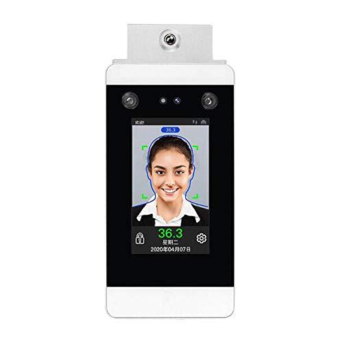 Bierglaks Sistema de Control de Acceso al Terminal para Empresa, función de Alarma de medición de Temperatura, Sistema de Asistencia de Control de Acceso Inteligente con reconocimiento Facial