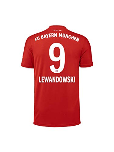 FC Bayern München Kinder Home-Trikot Saison 2020/21, Gr. 140, Robert Lewandowski