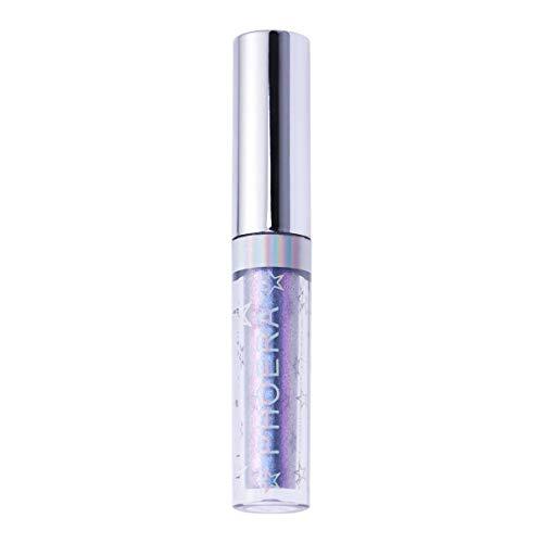 FRCOLOR Shimmer Eyeshadow Líquido Glitter Olho Sombra Brilho Metálico Conjunto de Maquiagem Dos Olhos para As Mulheres Senhora Da Menina (109 Luz Roxa)