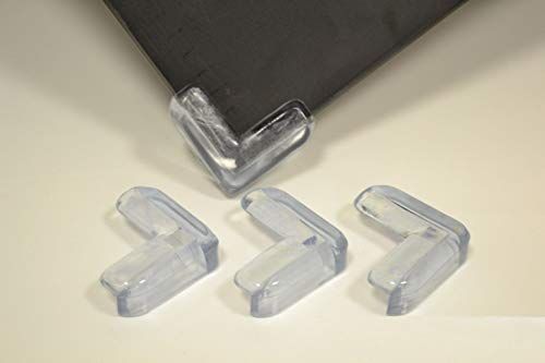 8X Eckenschutz Kantenschutz Gummi Eckschutz Glastisch Kinder Sicherung Baby Schutz