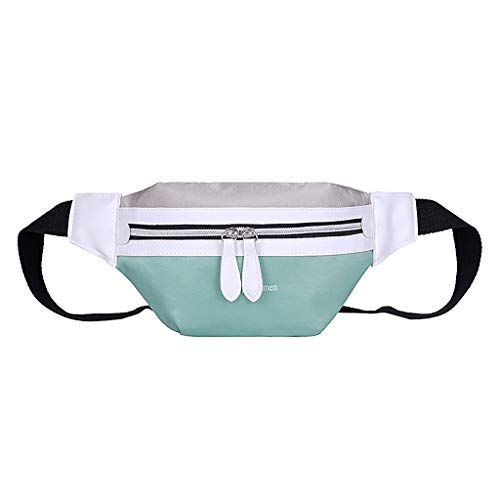 Bokeley 2019 New Fashion Fanny Pack for Women Casual Canvas Waist Packs Travel Sports Running Belt Bag with Adjustable Strap (Mint Green)