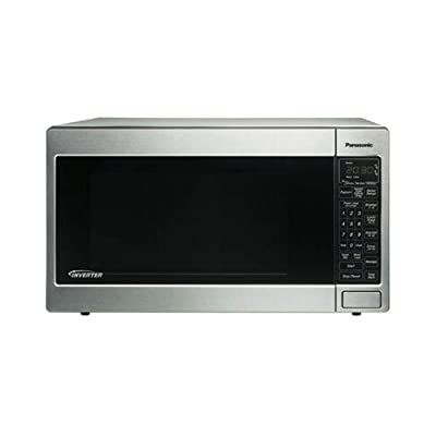 Panasonic NN-T945SF Luxury Full Size 2.2 cu ft 6 Digit Expanded Display Panel Countertop Microwave Oven with Inverter Technology (Renewed)