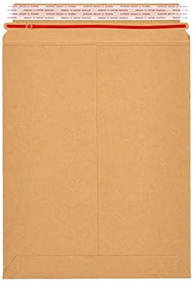 PSBM Rigid Mailers 9.75x12.25 Trust Inch Stay Kraft Pack 100 Brown Over item handling ☆