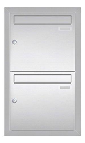 Edelstahl V2A Unterputz Briefkastenanlage CLASSIC 534-UP-VA (2 Parteien, senkrecht)