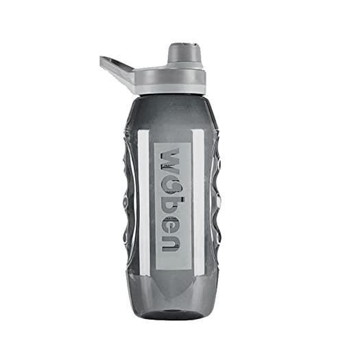 Botella de agua deportiva, botella de gran capacidad de 34/55 onzas de boca ancha, botella grande portátil a prueba de fugas, tazas con correa de escamas para deportes al aire libre