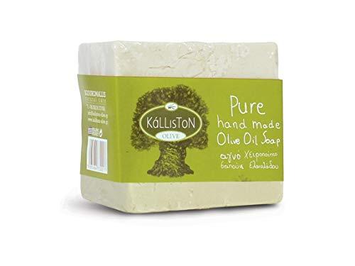 Olivenöl Seife Traditional Natural von Kalliston aus Griechenland handgemachte Seife 200g Block Kreta Olivenölseife Olive Oil Soap handmade