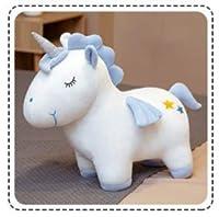 ぬいぐるみ 可愛い ユニコーン おもちゃふわふわ 柔らかい 添い寝 癒し系 プレゼント (ブルーB, 40cm)