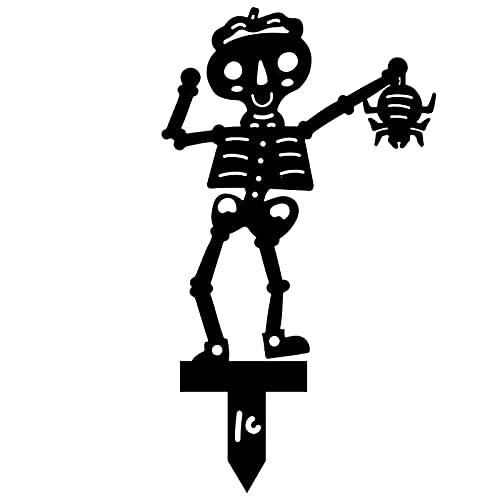 Skull Head Staca Acrílico Jardinería Decoración Decoración de césped