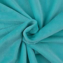 AIREQN Court Tissu en Peluche Super Soft Tissu for Le Bricolage Handcrafted Oreiller Chaussures Jouets Pyjama Linge de lit à Coudre Matériel 50x50cm (Color : Lake Blue)