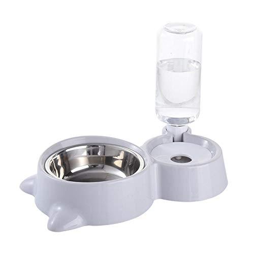 bozitian Fuente para Beber automática, Cuenco para Perro, de Acero Inoxidable, Bebedero, Fuente para Gato, dispensador de Agua automático, Cuenco de alimentación para Perro