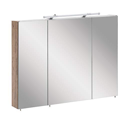 Schildmeyer Trient Spiegelschrank, Holzdekor, Wildeiche Dekor, 90.0 x 16.0 x 75.0 cm