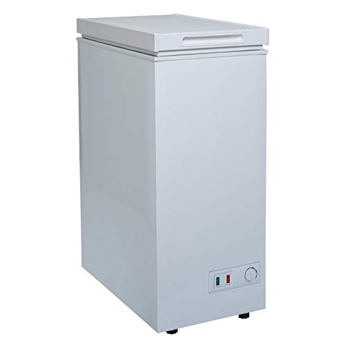 SIA CHF60W/1 36cm Freestanding Slimline Compact White Chest Freezer A+ Energy
