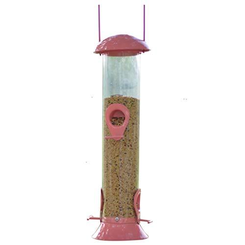 SXZHSM Metalen vogelvoer-hanger, rond, buiten, met waterdichte deksel, voederbeker voor vogels, duurzame vergroting van de ring om op te hangen, duurzaam, voor vogels