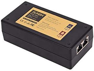 SUNBA High Power Gigabit 65W Single Port Long Distance Transmission 802at af Compliant PoE Injector product image