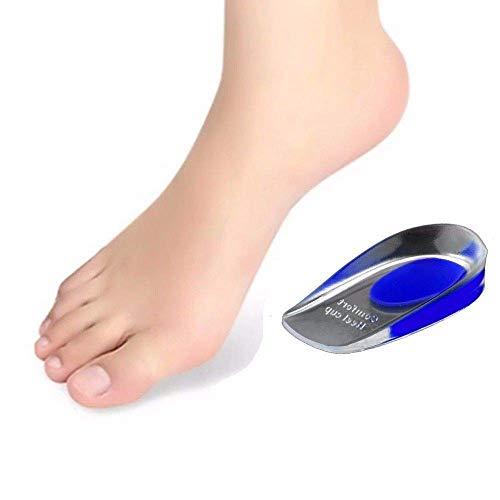 Gel Einlegesohlen Einlagen Fersensporn Fersenkissen Fersenpolster Schuheinlage Fußbett (Rot, 36-40) (Blau 41-46) … (Blau, 41-46)