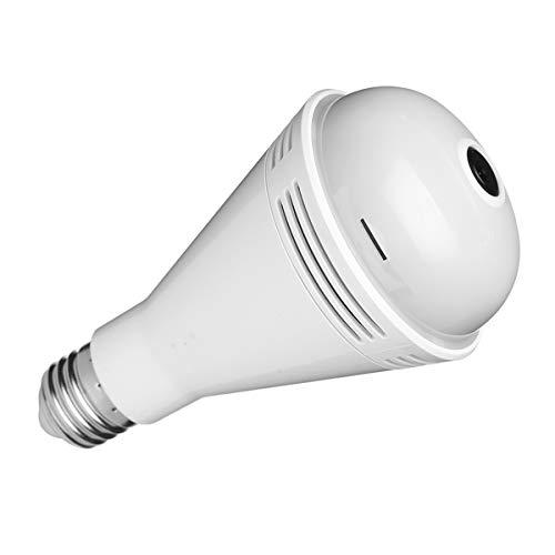 Haude 960P WiFi Bulb Camera 360 Grados Gran Angular Fisheye HD CáMara Interior Altavoz Luz Colorida Luz Blanca