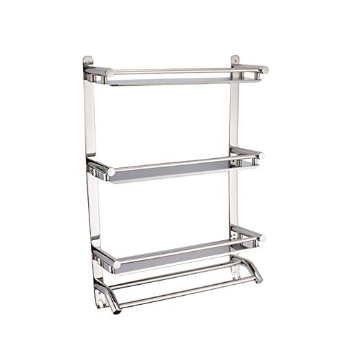 Best Buy! Bathroom Shelf Three-Tier Rack Bathroom Shelf Shower Shelf Corner Shower Caddy Shelves Bat...