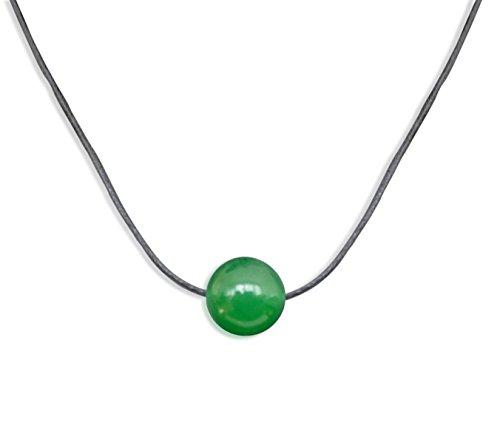 Vifaleno Collar de Piedras Preciosas Joyas, Jade, Jade Malasia, Natural, Verde, Esférico, 10mm