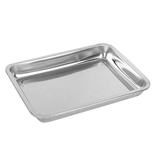 BrawljRORty Grill Fish Baking Sheet Tray Cookie Sheet Stainless Steel Toaster Oven Pan Baking Pan, Thick & Sturdy, Easy Clean & Dishwasher Safe, For Commercial or Home Use 10#