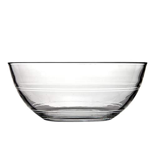 TELLW Transparent Vaisselle en Verre Saladier Home Petit Bol à Fruits Bol à Dessert Verre résistant à la Chaleur Creative Froid Bol à Nouilles, Verre, Claire, D:13.7 * 5.7CM