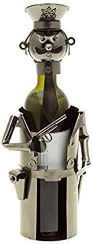 wscmd botellero policía Botella de Vino Regalo Botella Hombre policía