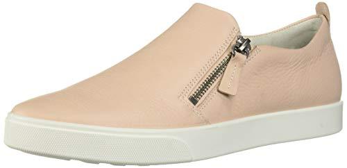 ECCO Womens Gillian Side Zip Sneaker, Rose dust, 5-5.5