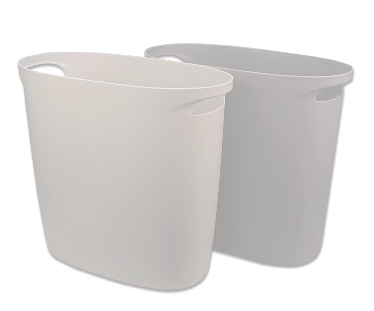 Diyalor 4 Gallon Small Trash Can Bathroom Wastebasket,Pack of 2
