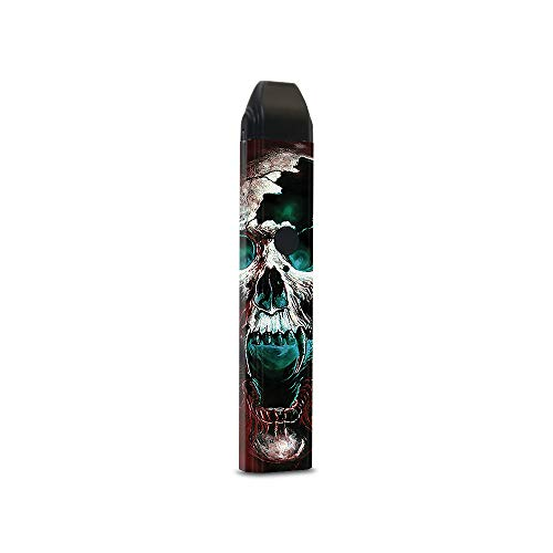 MightySkins Skin for Uwell Caliburn - Wicked Skull | Protective, Durable, and Unique Vinyl Decal wrap Cover | Easy to Apply, Remove, and Change Styles | Made in The USA