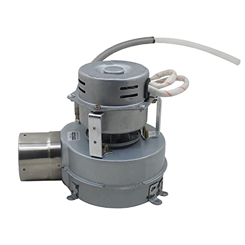 Ventilador centrifugo industrial 230v con tubo antiretorno aire motor radial extractor caldera estufa pellets conducto aire (Derecha OD50mm 2 Velocidades)