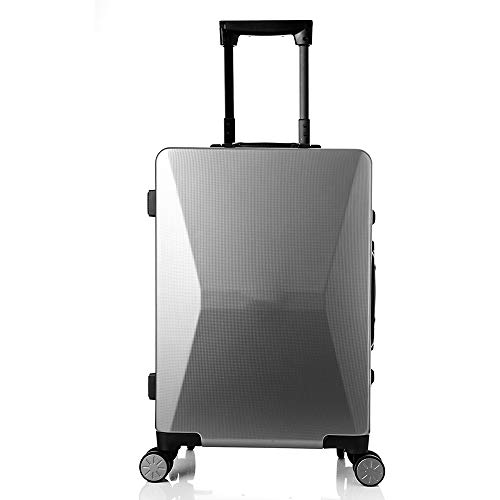 Luggage Expandable Suitcase Smart Fingerprint Unlocking Trolley Case Solar Luggage Mobile Phone Charging High-end Business Travel Smart Boarding Luggage Suitcases 20 Inch Lightweight Spinner Luggage