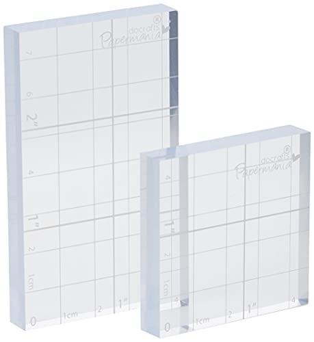 Papermania Stamp Block, Confezione da 2, Trasparente