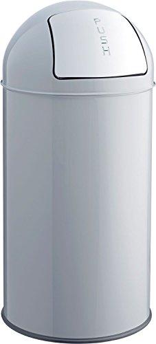 helit h2401487 Poubelle en métal, 50 L, gris clair
