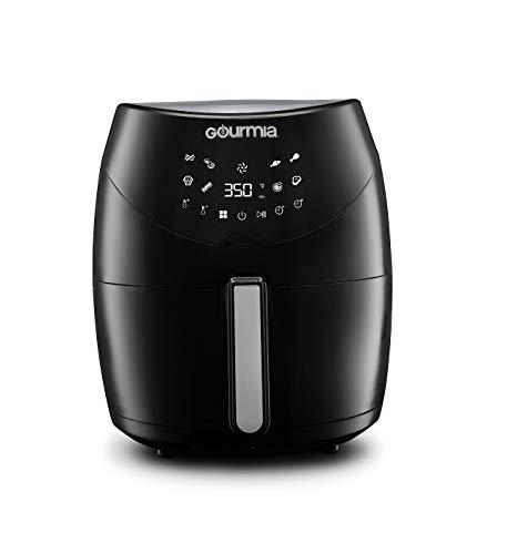 Gourmia GAF658 Digital Free Fry Air Fryer- No Oil Healthy Frying - LCD Display - 8 Presets - 1700 Watt - 6 Qt Basket Pan - Recipe Book Included