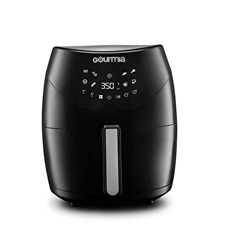 Gourmia GAF658 Digital Free Fry Air Fryer- No Oil Healthy Frying - LCD Display - 8 Presets - 1700 Watt - 6 Qt Basket Pan - Recipe Book Included