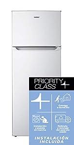 Sauber - Frigorífico Dos Puertas SF141 - Eficiencia energética: A+ - 141x55cm - Color Blanco