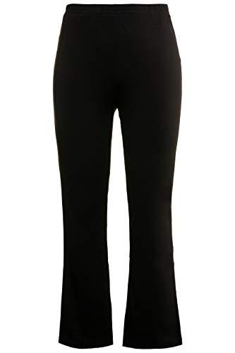 Ulla Popken Damen große Größen Yogahose schwarz 50+ 701154 10-50+
