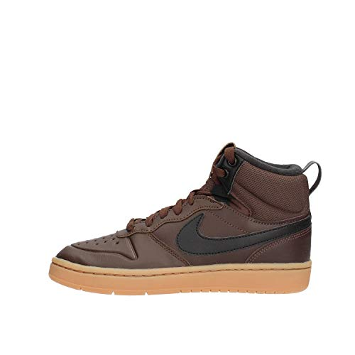 Nike Court Borough Mid 2 Boot (GS), Zapatillas Altas, Multicolor (Baroque Brown/Black/Gum Med Brown 200), 36 EU
