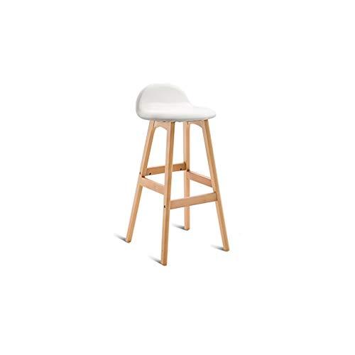 Bureau stoel eenvoudige bar stoel huis massief hout hoge kruk creatieve bar kruk kassier balie stoel Kleur: wit