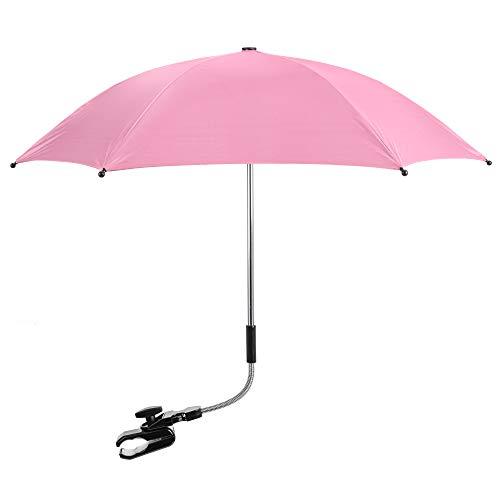 Baby Parasol Sun Umbrella Shade Maker Canopy for Pushchair Pram Buggy - Light Pink