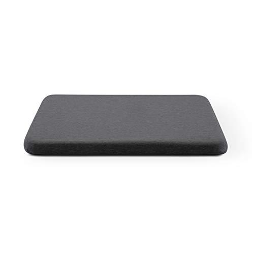 Gel Bambus Holzkohle Enhanced Sitzkissen rutschfeste Gel Memory Foam Kissen für Stuhl (Color : Bling Dark Grey, Specification : 39x39cm)