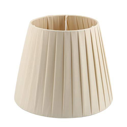 Pantalla de pared para lámpara de pie con tapa de luz, 6,3 x 9,4 x 7,5 pulgadas (Slip UNO Fitter), color beige