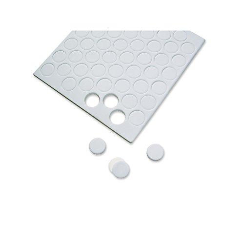 Rayher Hobby 3329700 3D-Klebepunkte, 13 mm ø, 3 mm stark, 2 Platten à 52 Klebepads, rund, beidseitig klebend