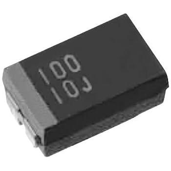 Condensatori Condensatori al tantalio 100 pezzi 10 valori 16 V 1 uf 100 uf condensatori al tantalio Kit assortito con scatola