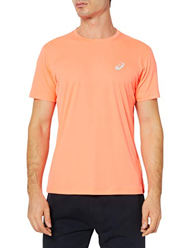 ASICS Silver SS - T-Shirt, Flash Coral, Talla XX-Large