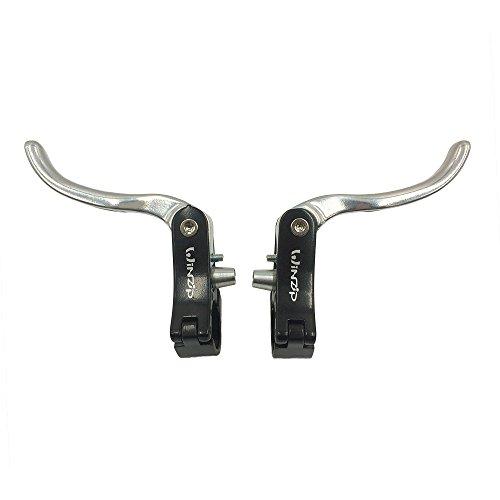 UPANBIKE Zusätzliches Bremshebel Set für Rennrad Aluminiumlegierung(22.2 mm,Schwarz+Silber)
