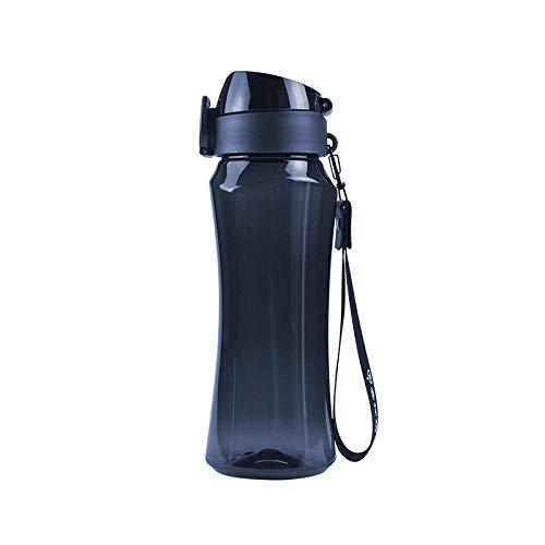 Yidieman Botella de Agua Motivacional,Botella de Agua de plástico TRITAN Botella de Agua para Deportes al Aire Libre-Deep Blue_650ML,Botella de Agua con Jarra de Agua Reutilizable sin BPA a Prueba