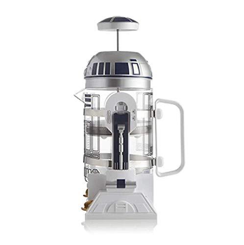 2020NEU Star Wars R2-D2 Roboter Handbuch Kaffeemaschine-Mini Französisch gepresste Kaffeekanne 960ml