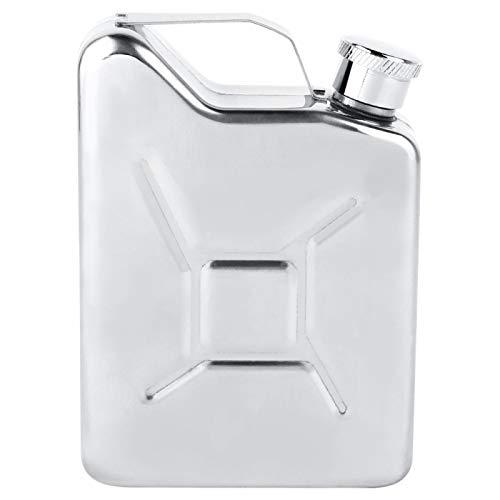 Fiaschette tascabili per liquore per uomo, fiaschetta portatile a prova di perdite in acciaio inossidabile da 5 once per liquore Whisky Vino alcol